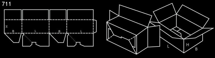 karton z automatycznym dnem fefco 711