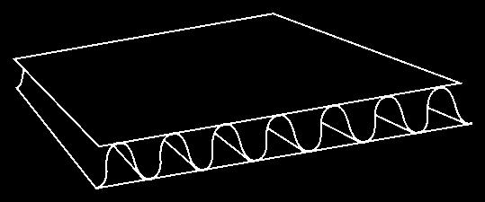 przekładka tekturowa, arkusz tektury