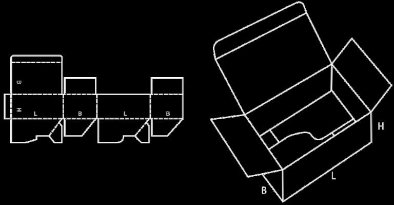 karton klejony automatyczny z wiekiem fefco 713