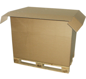 karton paletowy klapowy z pokrywa f312